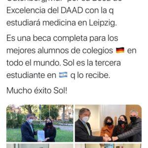 Reconocimiento del Embajador alemán a Sol Caraballo