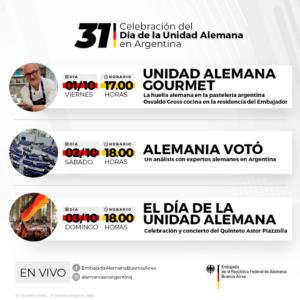 Invitación | Celebración 31° – Día de la Unidad Alemana en Argentina